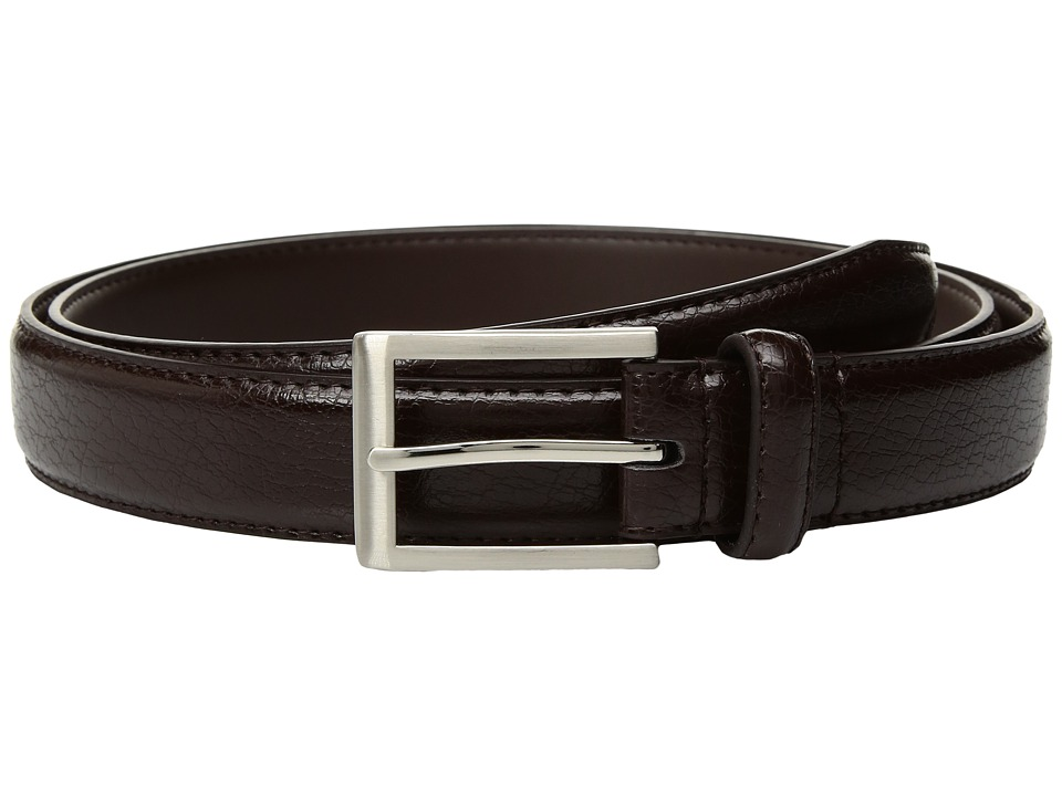Florsheim - Crackle Grain Belt (Brown) Men's Belts