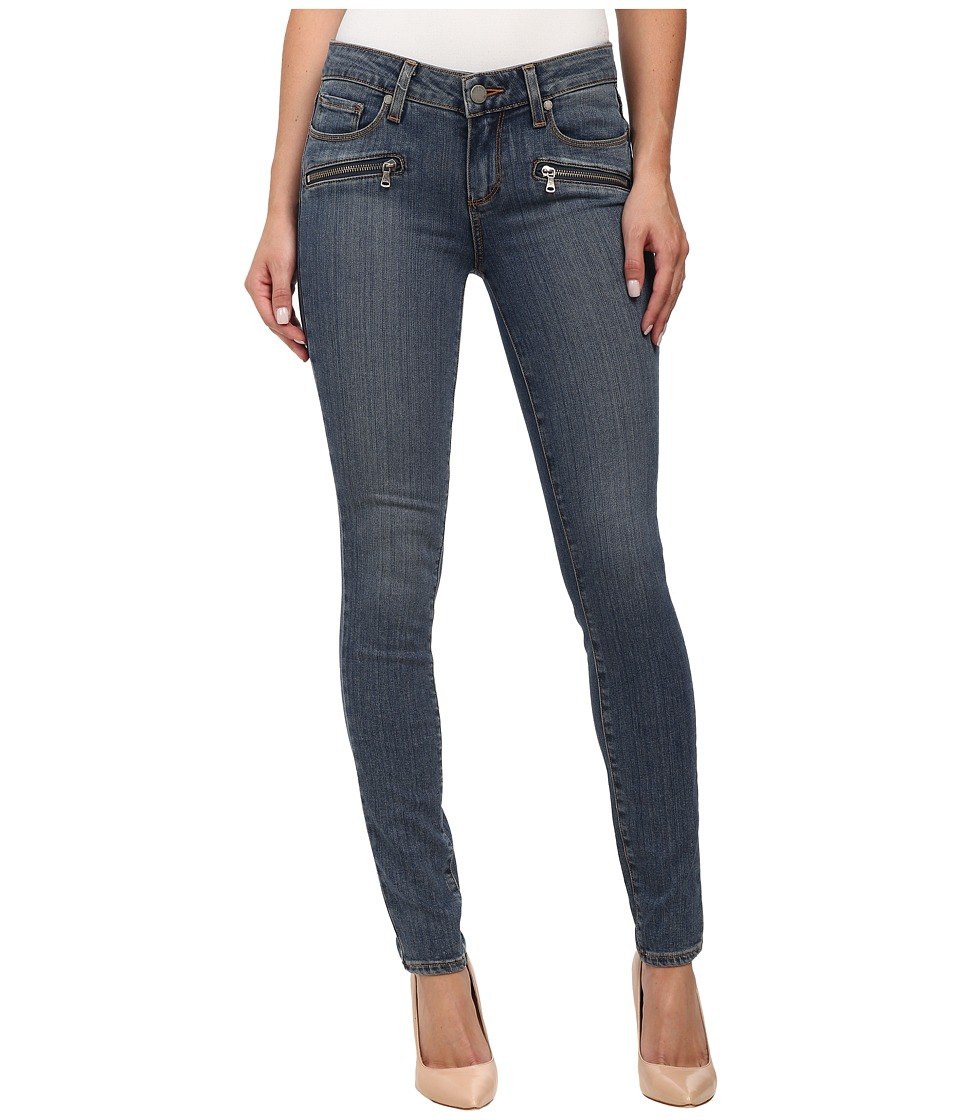 Paige - Indio Zip Ultra Skinny in Brett No Whiskers (Brett No Whiskers) Women's Jeans