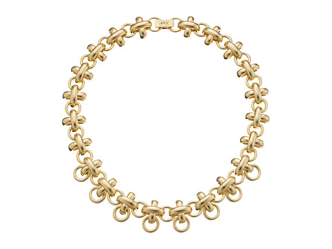 Giles & Brother - X Knot Chain Necklace (Gold Finished Brass) Necklace