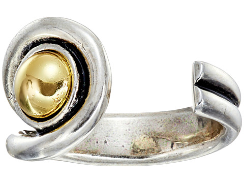 Giles & Brother - Single Ball Ring (Silver Oxide/Gold) Ring