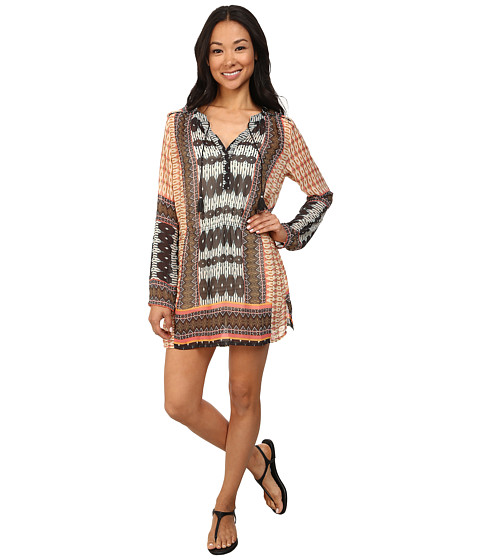 Dylan by True Grit - 3/4 Sleeve Tunic Dress (Indigo/Charcoal/Natural/Brown/Cowboy) Women's Dress