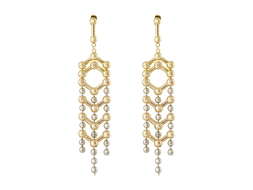 Giles & Brother - Apache Two-Tone Drop Earrings (Gold/Silver Oxide) Earring