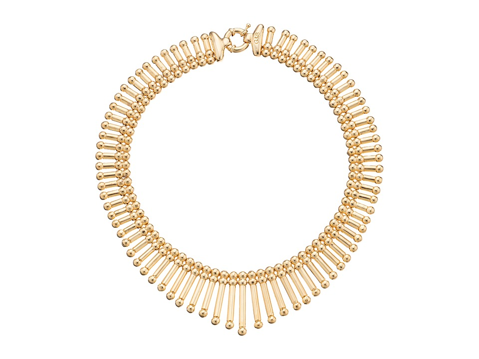 Giles & Brother - Apache Fringe Necklace (Gold Finished Brass) Necklace