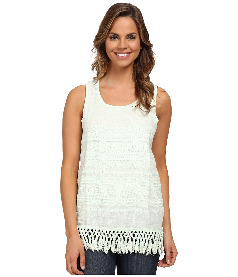 Dylan by True Grit - Malubu Ranch Fringe Tank Top (Pale Blue) Women's Sleeveless