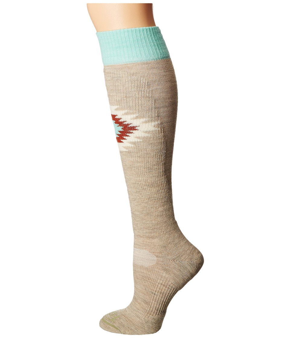 Fits - Light Ski Over The Calf (Oatmeal) Women's Crew Cut Socks Shoes