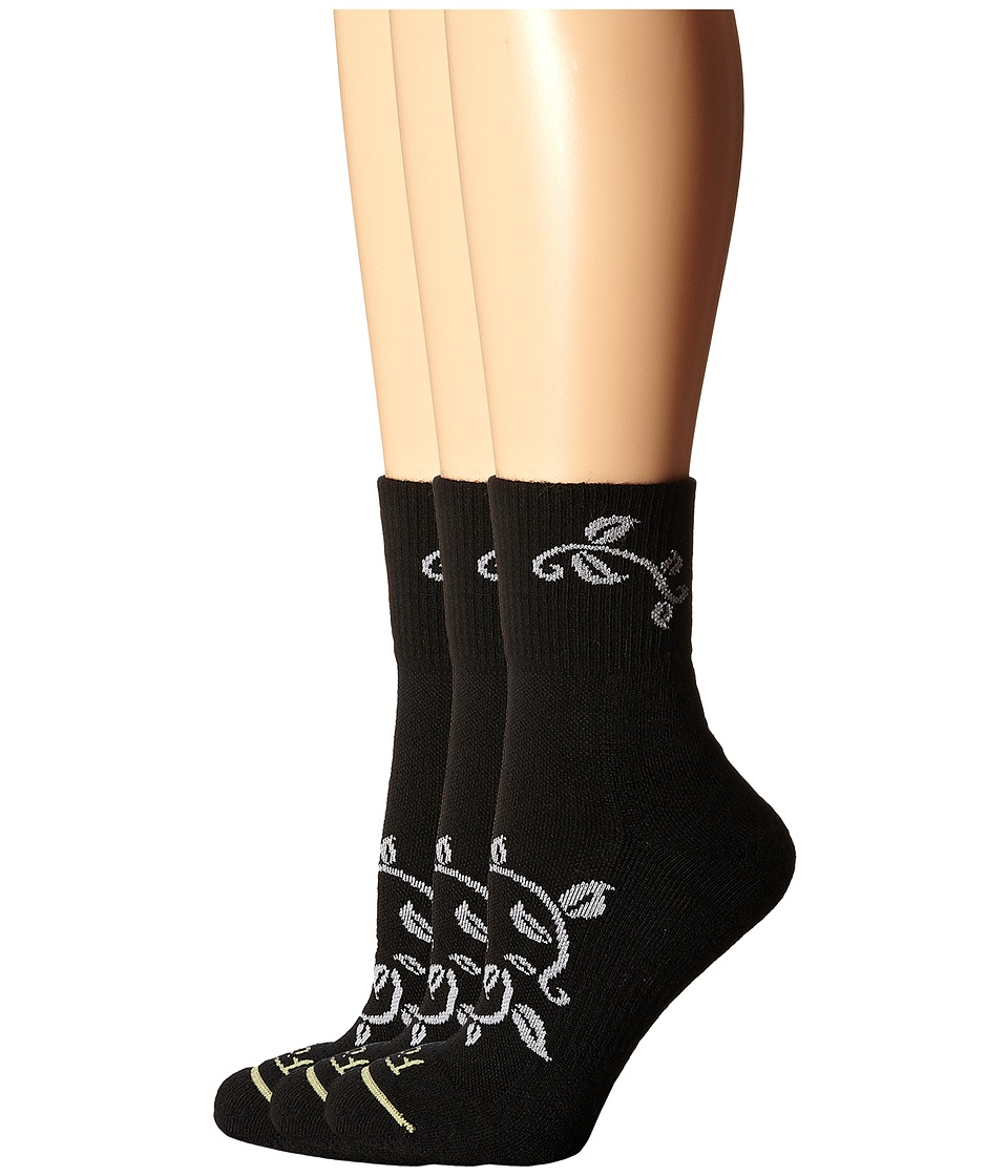 Fits - Pro Trail Performance Quarter 3-Pack (Black) Women's Quarter Length Socks Shoes