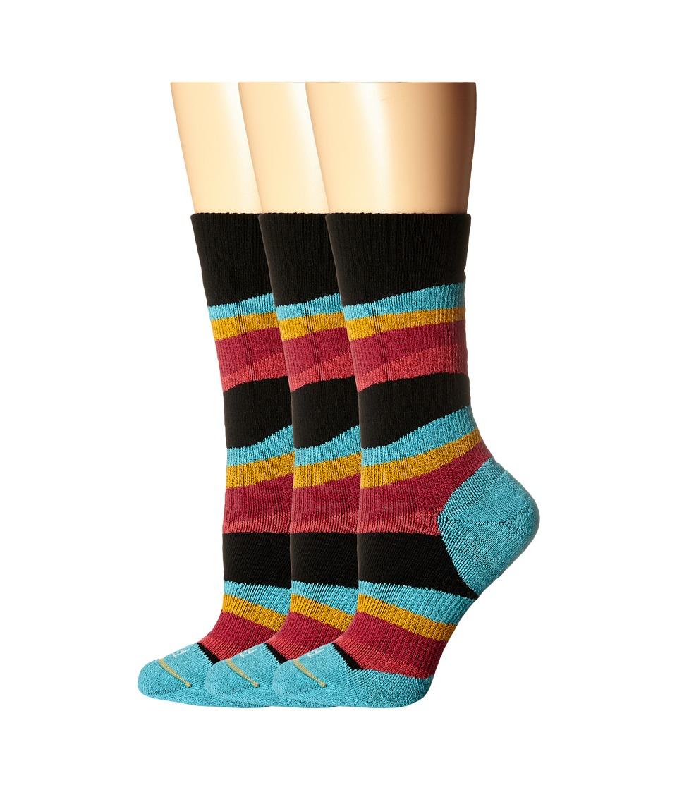 Fits - Medium Hiker Crew 3-Pack (Sunset) Women's Crew Cut Socks Shoes