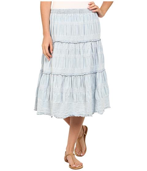 Dylan by True Grit - Cassidy Denim Field Skirt (Faded Denim) Women