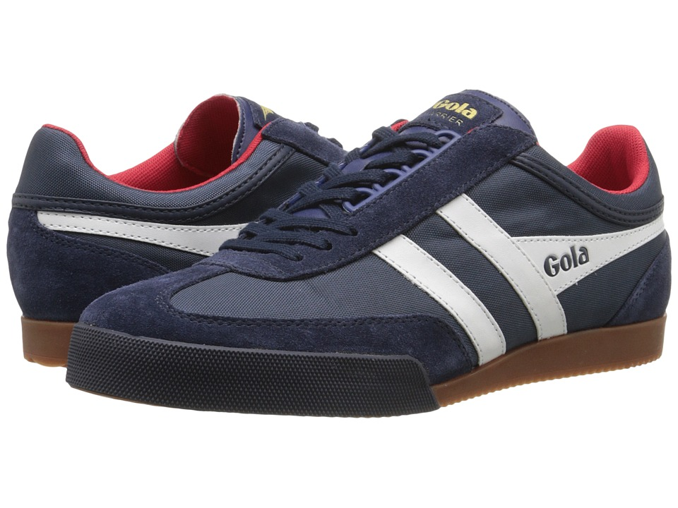 Gola - Super Harrier (Navy/White/Red) Men's Shoes