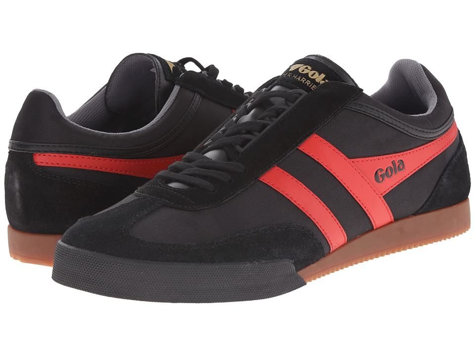 Gola - Super Harrier (Black/Red/Grey) Men's Shoes