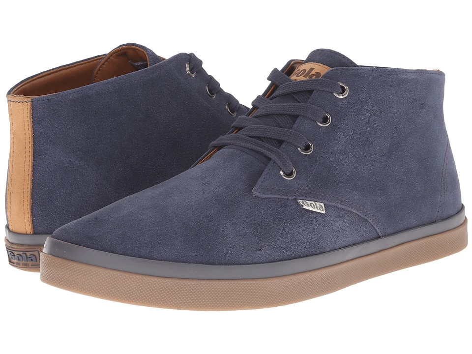 Gola - Seeker Suede High (Navy) Men's Shoes
