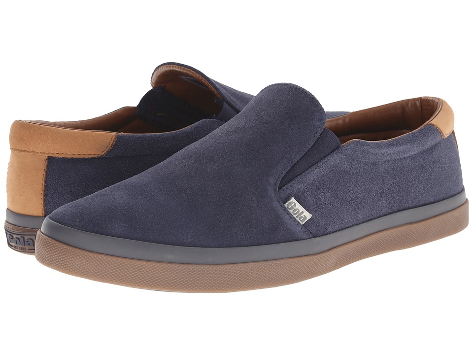 Gola - Seeker Slip Suede (Navy) Men's Shoes