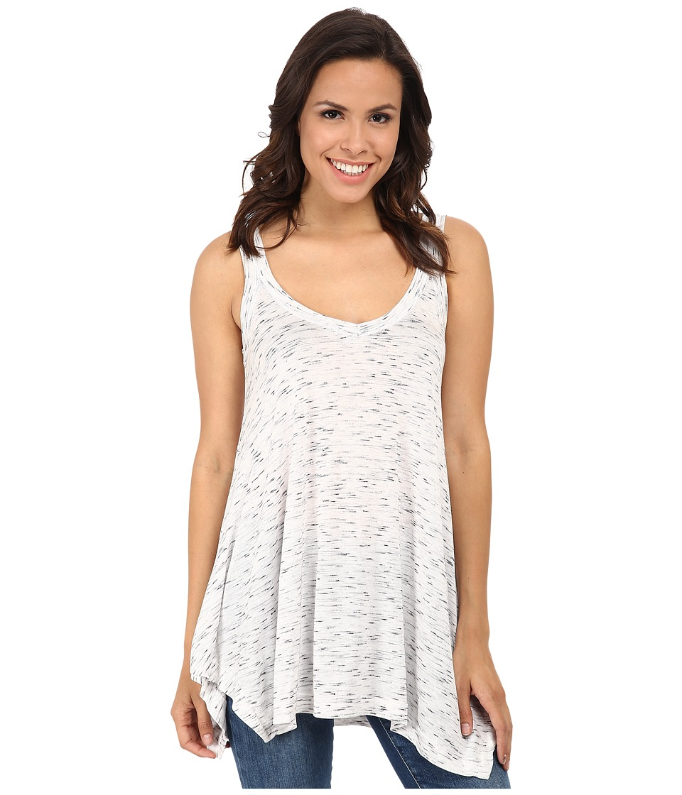 Nally & Millie - V-Neck Tunic Tank Top (White) Women's Sleeveless