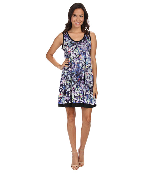 Nally & Millie - Floral Reversible Dress (Blue Multi) Women's Dress