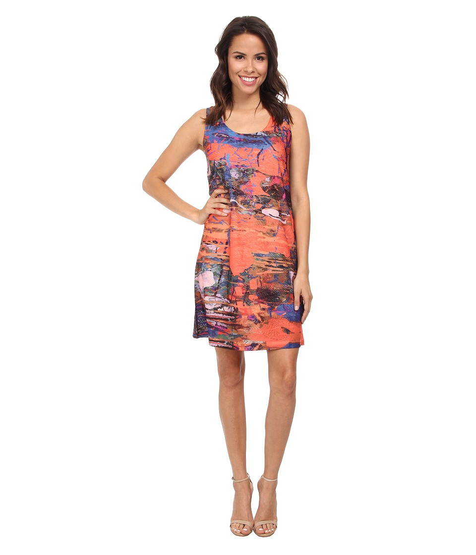 Nally & Millie - Printed Jacard Dress (Multi) Women's Dress