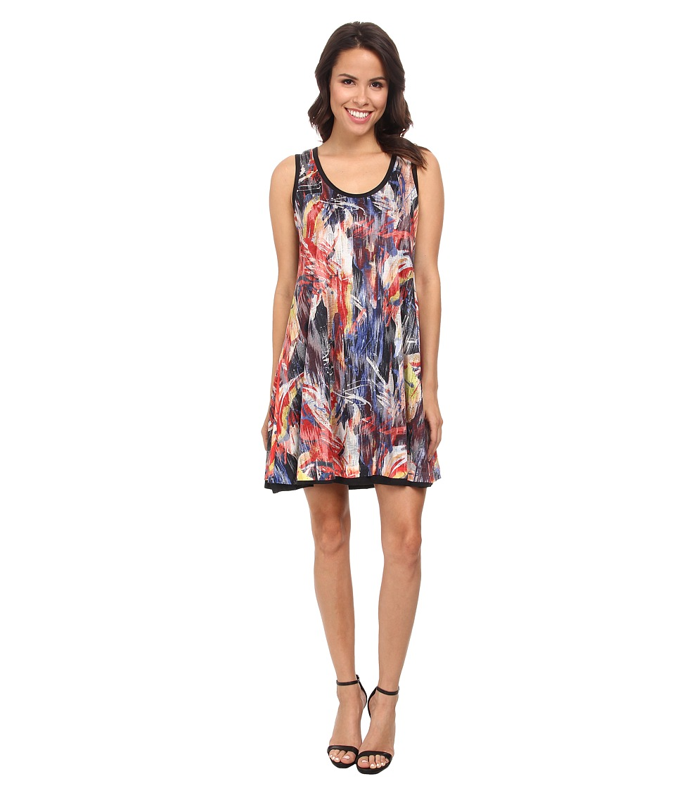 Nally & Millie - Paint Splash Reversible Dress (Multi) Women's Dress