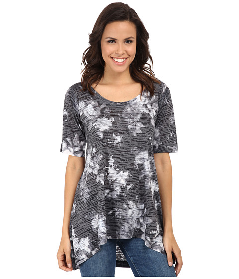 Nally & Millie - Floral Tunic (Black/White) Women