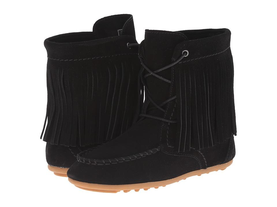 Polo Ralph Lauren Kids - Mila Fringe Bootie (Little Kid/Big Kid) (Black Suede) Girls Shoes