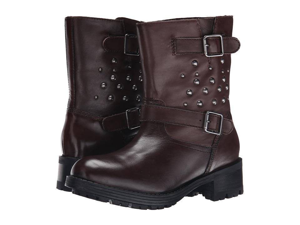 Polo Ralph Lauren Kids - Biker Boot (Big Kid) (Brown Leather) Girls Shoes
