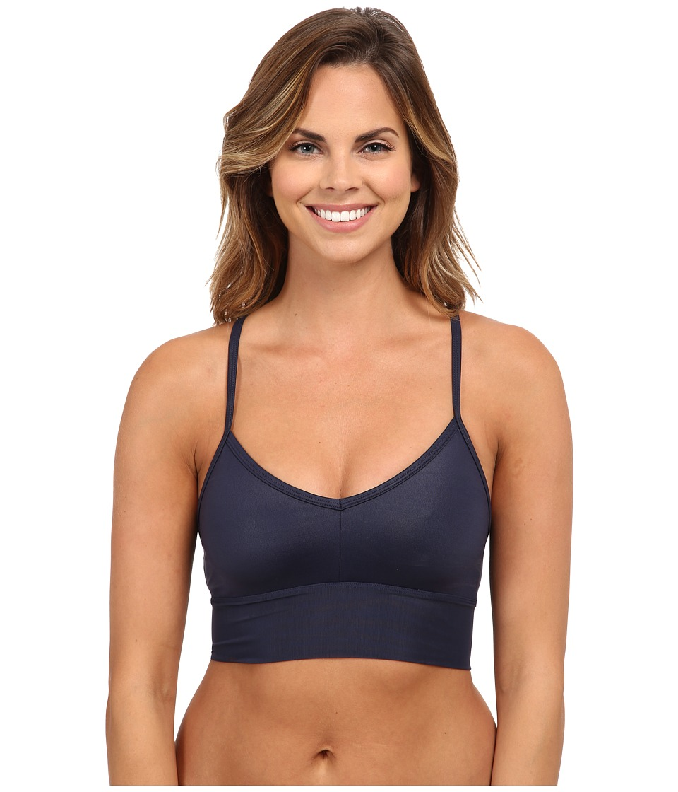 ALO - Aria Bra (Rich Navy Glossy/Rich Navy) Women's Bra