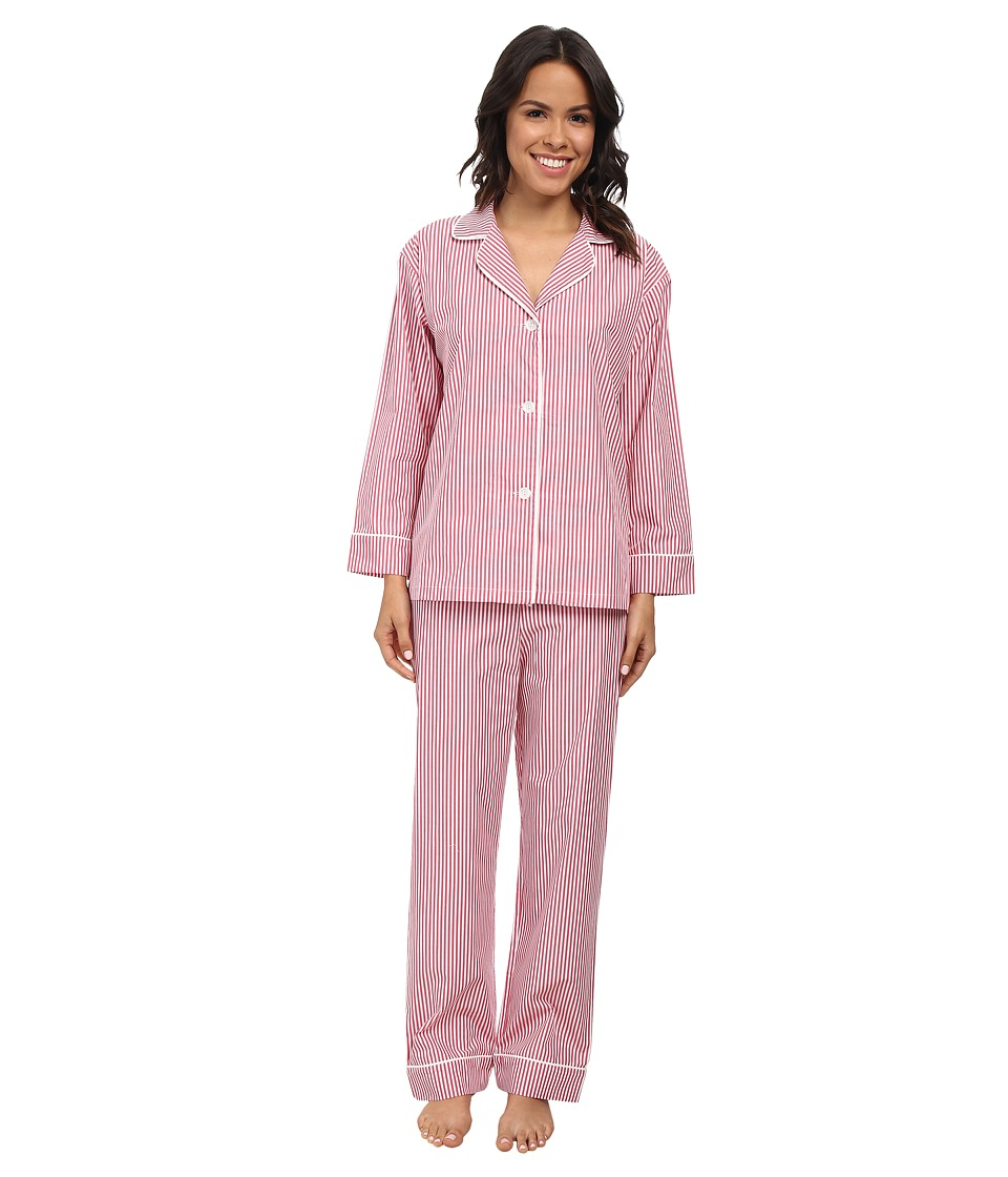 BedHead - Classic Pinstripe PJ Set (Pink Stripe) Women's Pajama Sets