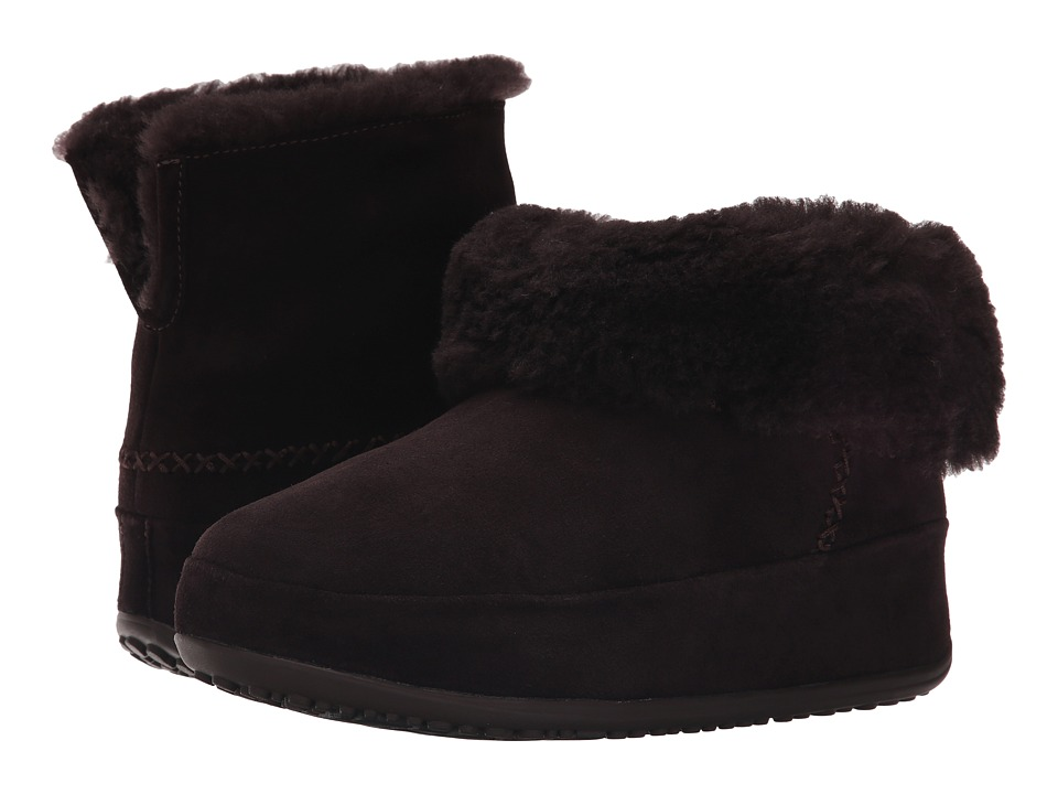 FitFlop - Mukluk Shorty (Dark Brown) Women's Slippers
