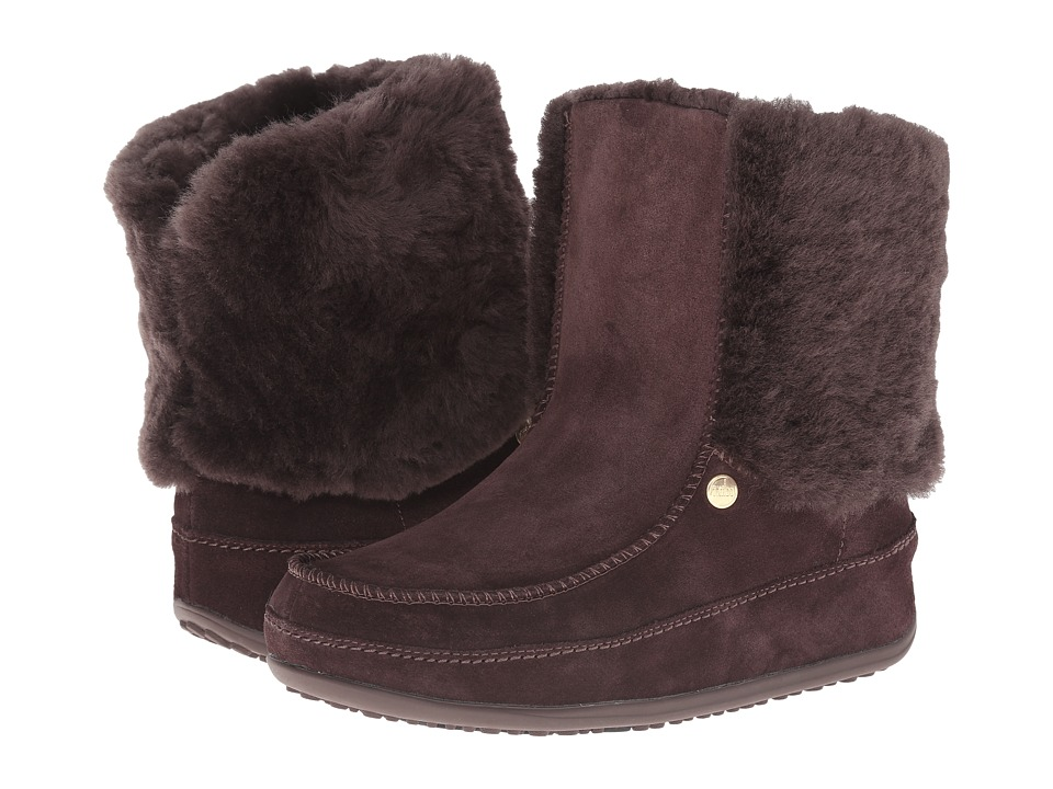 FitFlop SuperCuff Mukluk (Dark Brown) Women
