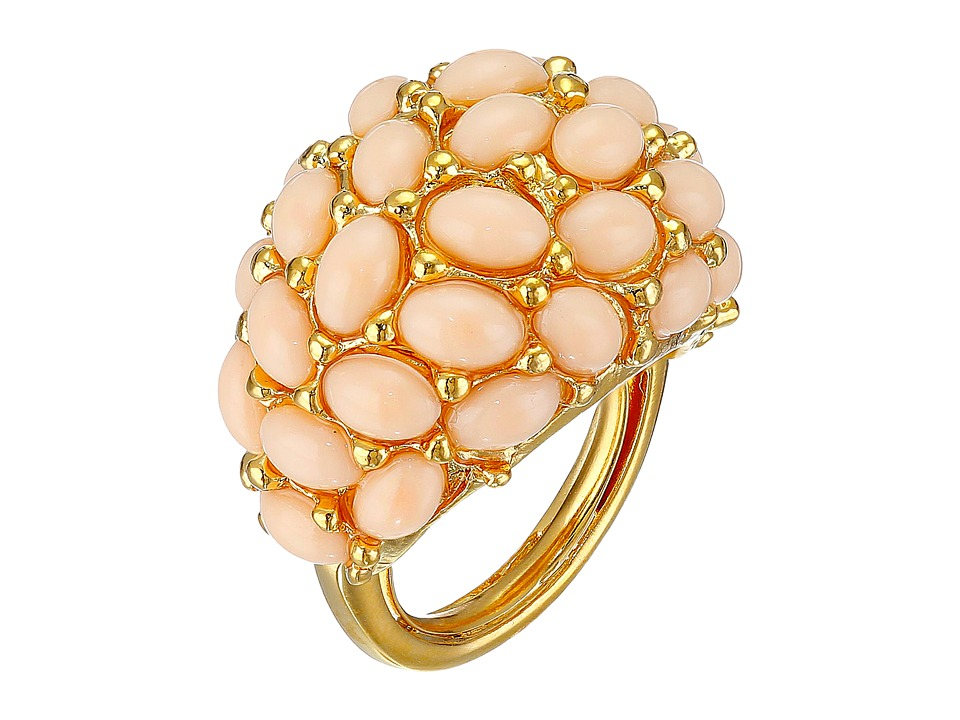 Kenneth Jay Lane - Cabochon Cluster Ring (Angelskin) Ring
