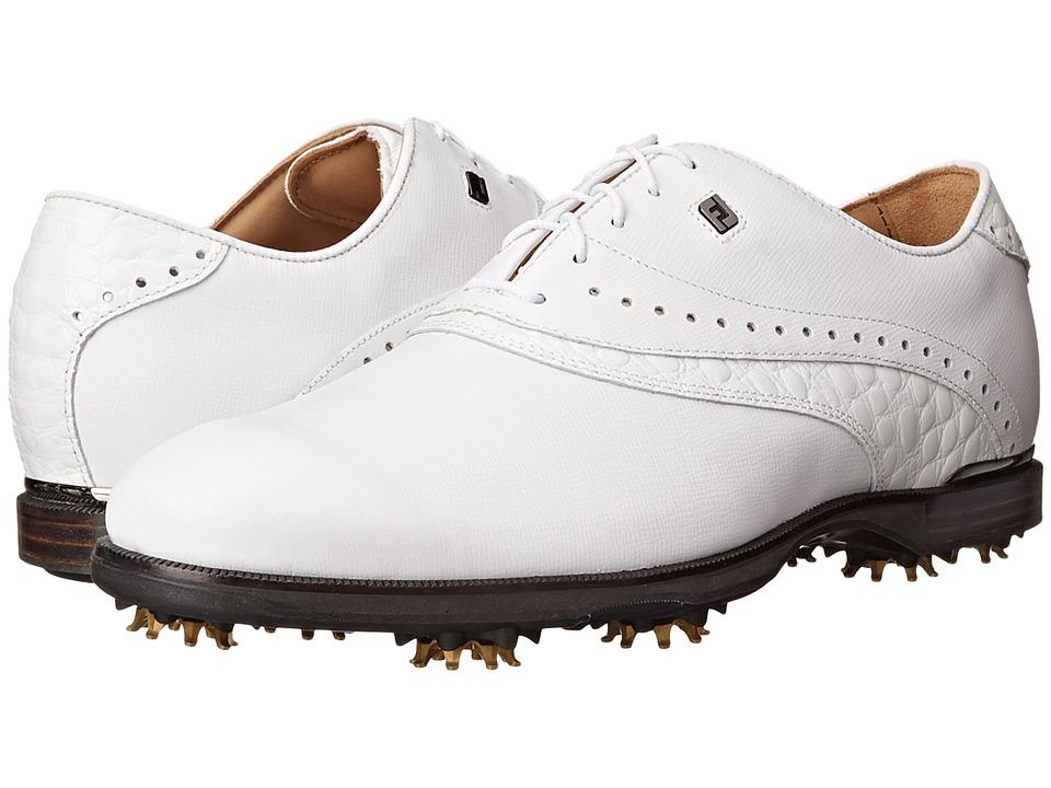 FootJoy - FJ Icon (White/Croc) Men's Golf Shoes