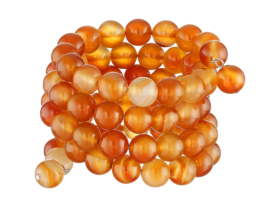 Kenneth Jay Lane - Five Row Bead Stretch Bracelet (Multi Amber) Bracelet