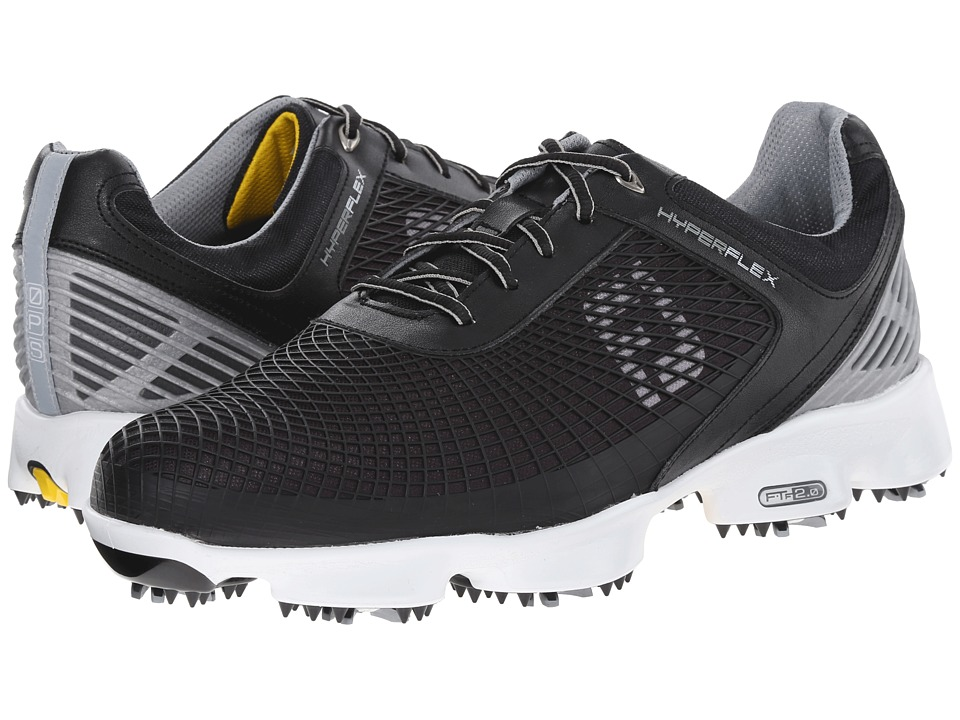 FootJoy - Hyperflex (Black/Silver/Yellow) Men's Golf Shoes