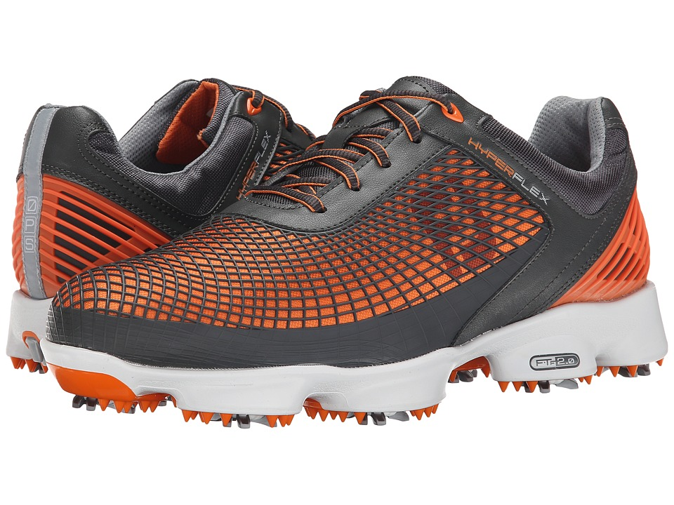 FootJoy - Hyperflex (Charcoal/Orange) Men's Golf Shoes