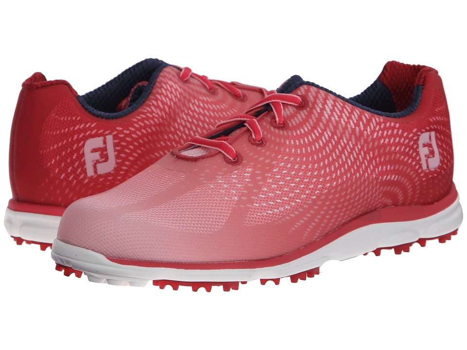 FootJoy - Empower Spikeless (Red/Pink) Women's Golf Shoes