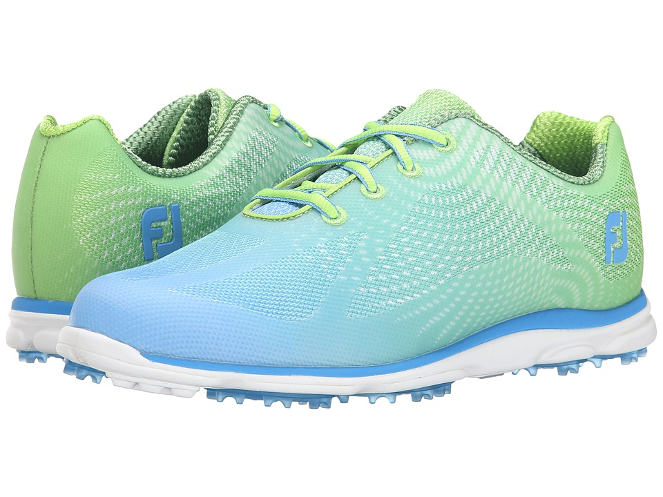 FootJoy - Empower Spikeless (Mesh/Lime/Blue) Women's Golf Shoes