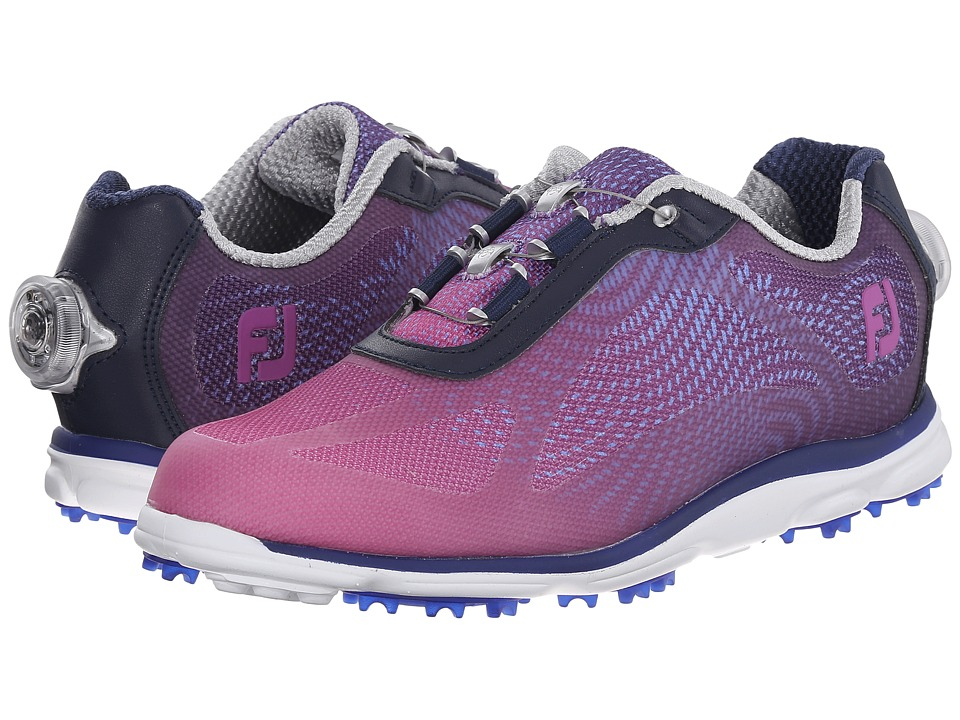 FootJoy - BOA emPOWER Spikeless (Navy/Plum) Women's Golf Shoes
