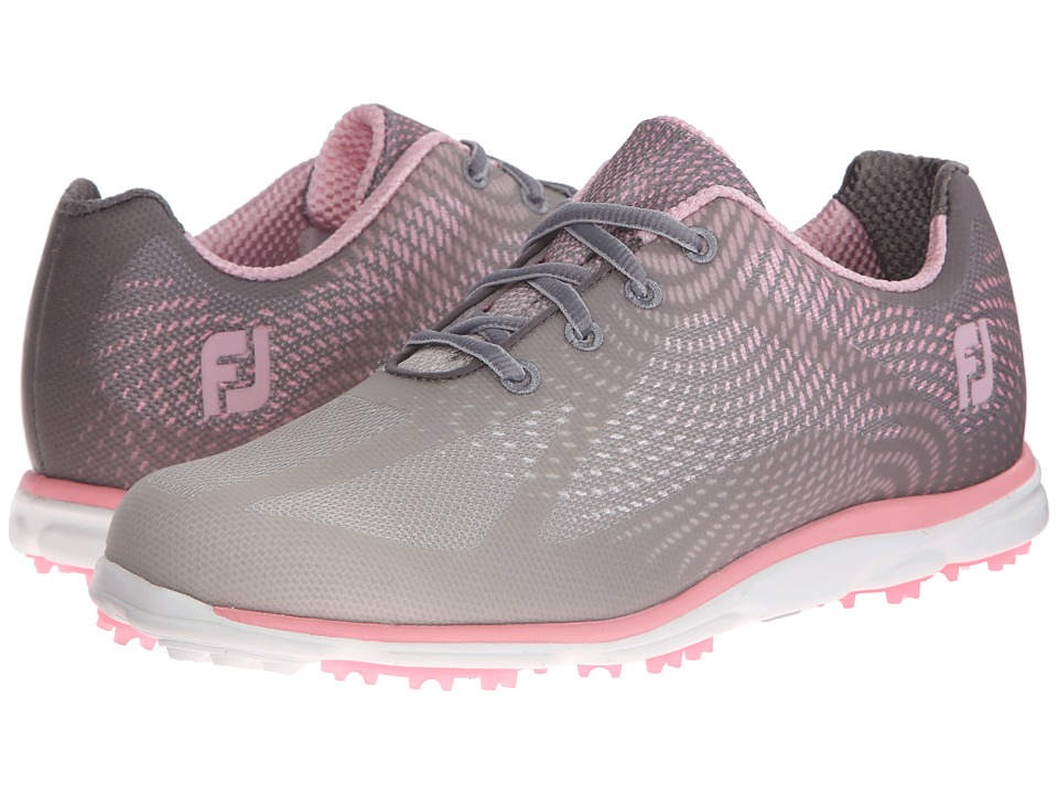 FootJoy - Empower Spikeless (Mesh/Grey/Silver/Pink) Women's Golf Shoes