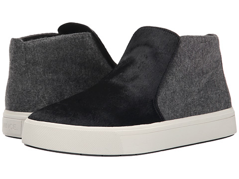 Vince - Beck-2 (Black/Ceramic Pony Lux/Alaska Mohair) Women's Slip on Shoes