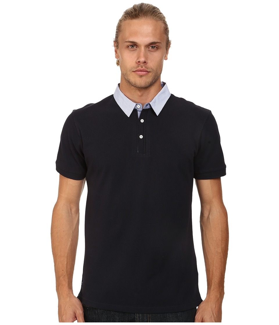 7 Diamonds - Center Stage Polo (Navy) Men's Short Sleeve Pullover