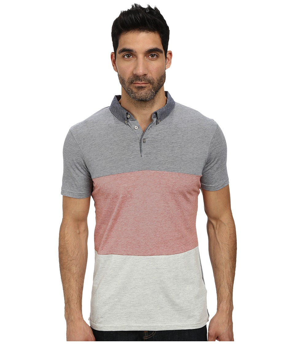7 Diamonds - Triple Threat Polo (Coral) Men's Short Sleeve Pullover