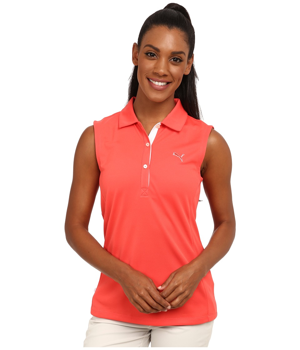 PUMA Golf - Golf Tech Sleeveless Polo '15 (Cayenne) Women's Sleeveless