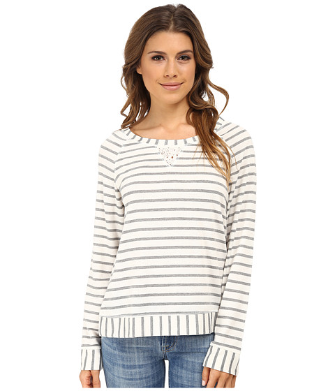 Splendid - Lace Trimmed Pullover Sleep Top (Luxe Stripe) Women's Pajama