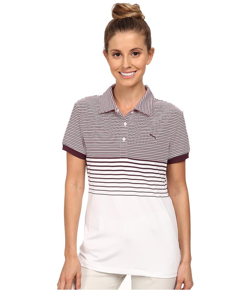 PUMA Golf - Double Stripe Polo (Italian Plum) Women