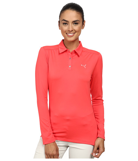 PUMA Golf - Longsleeve Polo '15 (Cayenne) Women's Long Sleeve Pullover
