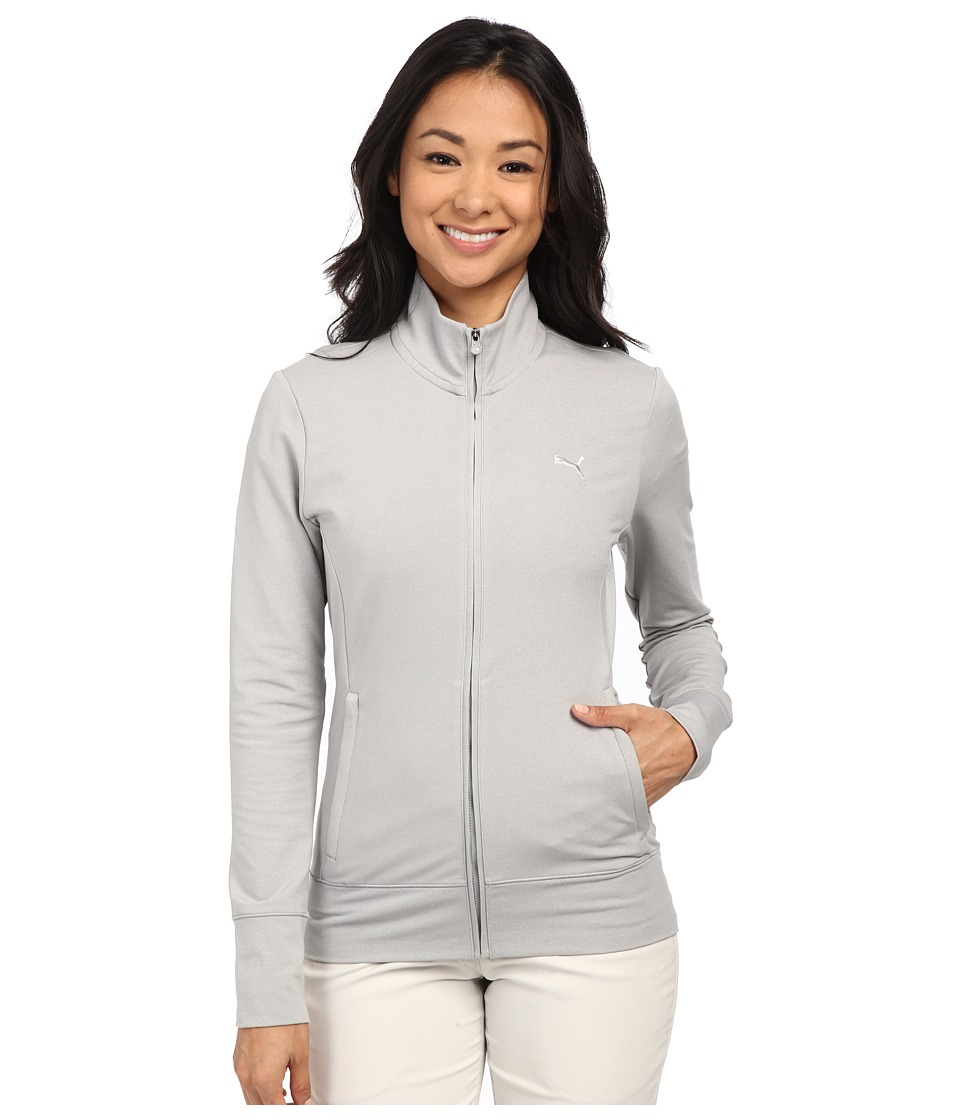 PUMA Golf - PWRWarm Golf Jacket (Light Grey Heather) Women's Coat