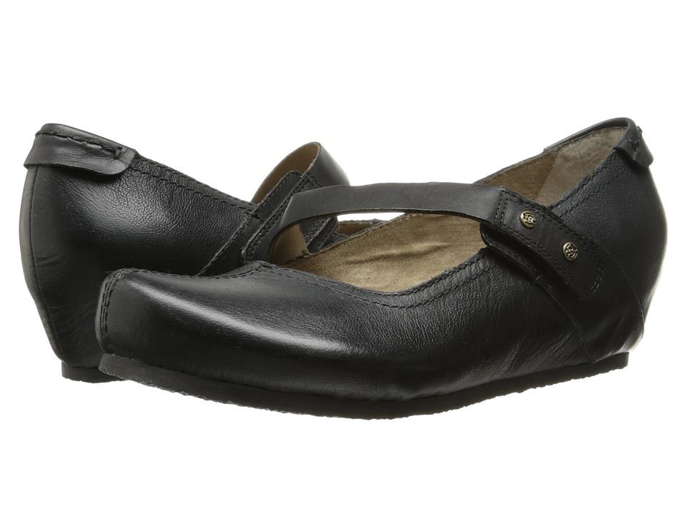 OTBT - Salem (Black Smooth) Women's Wedge Shoes