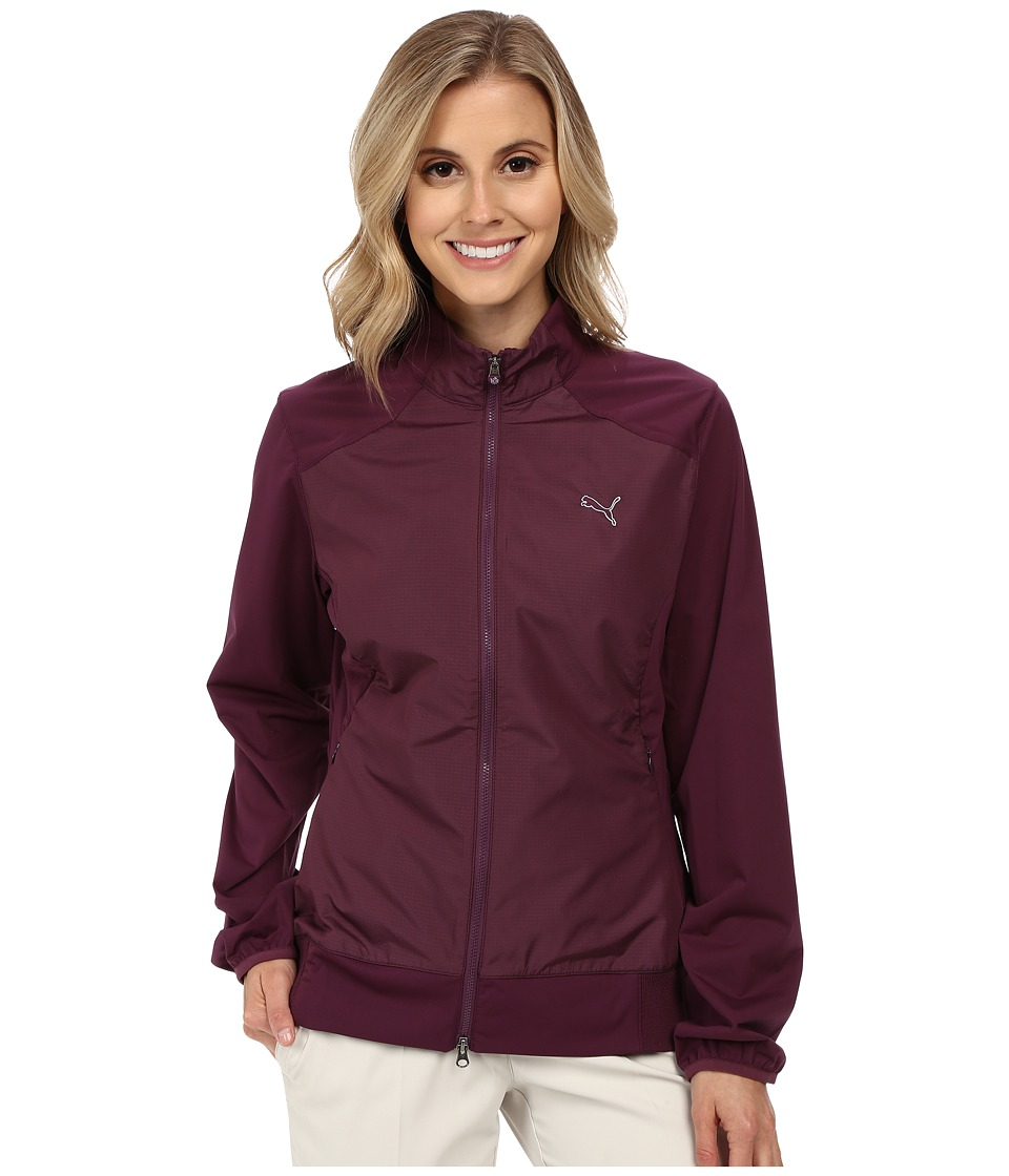 PUMA Golf - Tech Wind Jacket (Italian Plum) Women's Coat