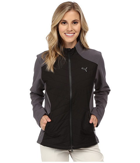 PUMA Golf - Warm Stretch Full Zip Jacket (Black) Women's Coat