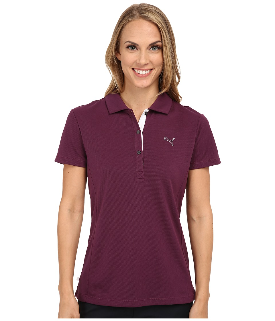 PUMA Golf - Golf Tech Polo '15 (Italian Plum) Women's Short Sleeve Knit
