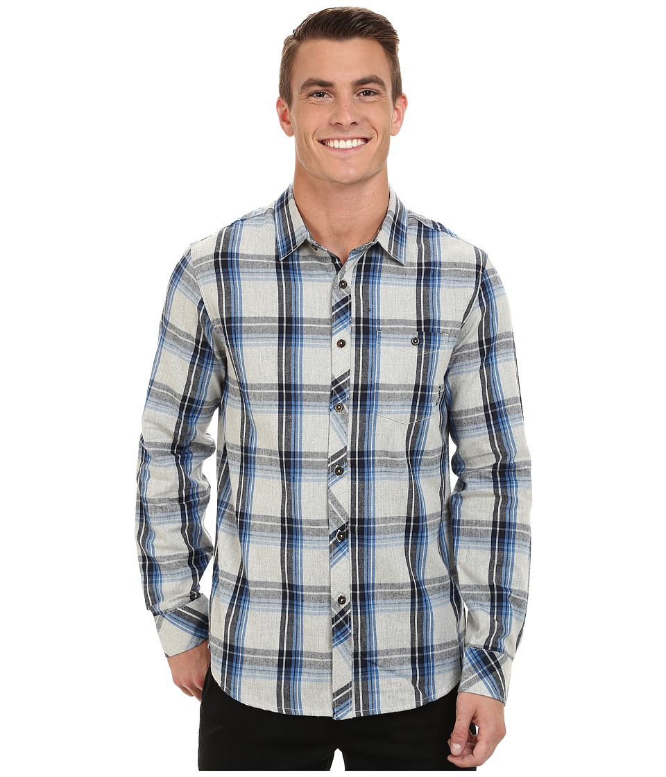 Billabong - Bellford Long Sleeve Button Down Shirt (Grey Heather) Men's Long Sleeve Button Up