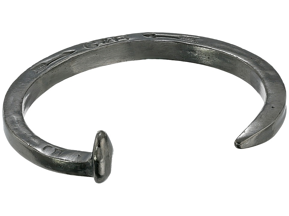 Giles & Brother - Railroad Spike Cuff Bracelet (Hematite Finished Brass) Bracelet